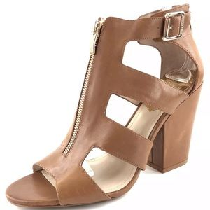 Vince Camuto Marleau Tan Open Toe Ankle Booties 8